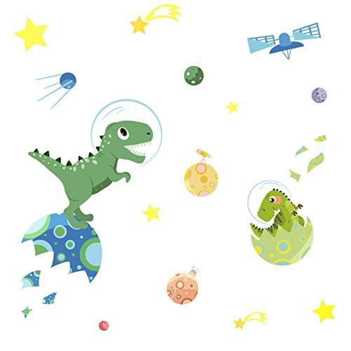 Cartoon Planet Dinosaur Wall Sticker DIY Baby Camera dei bambini Doll House Wallpaper Decorazione Adesivo autoadesivo Nursery Murale Decal