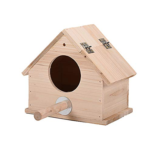 OMEM Birds Nests Parrot House Wooden Breeding Box Birdcages Stand Accessories