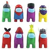 8 piezas de juguete Among Us, mini figuras de juegos lindas, juguetes de...