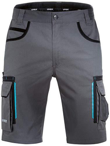 Uvex Tune-Up Arbeitshosen Männer Kurz - Shorts für die Arbeit - Grau - Gr 44W/Etikettengröße- 62