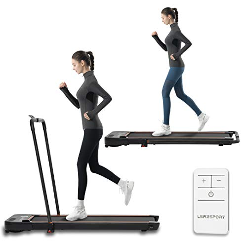 Folding Treadmill for Home Under Desk Treadmill with Installation-Free Walking Jogging Machine for Home Office Use Low Noise 240 lbs Weight Capacity
