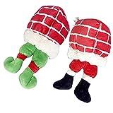 TwoStars Juguete de peluche para mascotas de Navidad, juguete suave para perros chirriantes, marioneta de hombre de pan de jengibre (hombre de pan de jengibre)