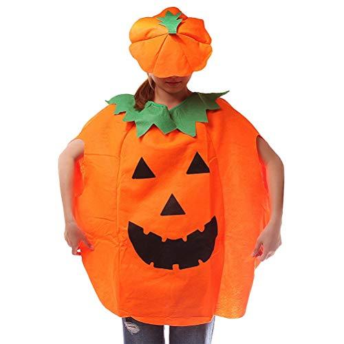 TOYMYTOY Disfraz de Calabaza, Halloween Fiesta de Carnaval Halloween Disfraces Divertidos de Halloween Naranja Calabaza Cosplay Ropa de Fiesta