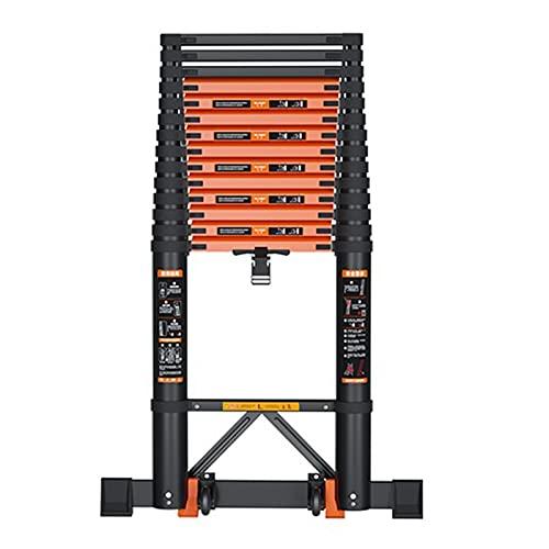 Escalera Extensible Telescópica Profesional Escalera Telescópica para Reparar el Techo/Limpiar Ventanas/Remolque de Viaje, Grande Plegable Escaleras Rectas con Rueda Aluminio (Size : 3.5m/11.5ft)
