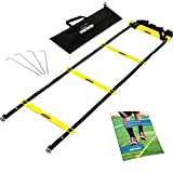 meiwar Coordination ladder training set, 6m with bag and pegs | Speed Ladder | Agility Speed Ladder for...