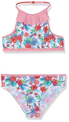 ESPRIT Mädchen Hawai Beach Mg Neckholder+Mini Badebekleidungsset, Rosa (Pink Fuchsia 660), 104 (Herstellergröße: 104/110)