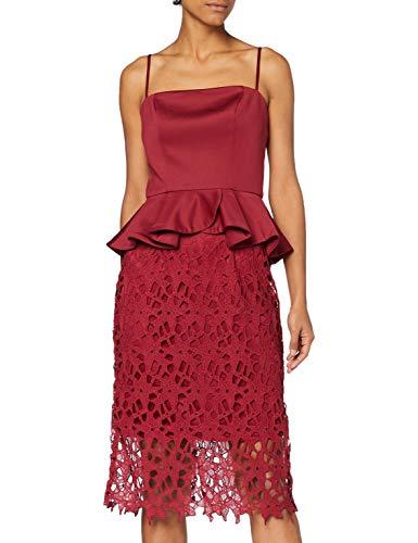 Chi Chi London Damen Chi Francie Dress Kleid, rot, 36