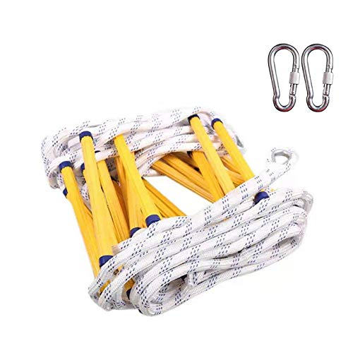 Per Newly Rope Ladder Fire Escape Ladder A Variety of Lengths can Be Selected, Bearing 460 Kg Best Outdoor Ninja Warrior Training Equipment for Kids