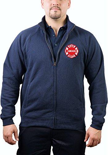 feuer1 Sweatjacke Navy, Chicago Fire Department - Brustemblem