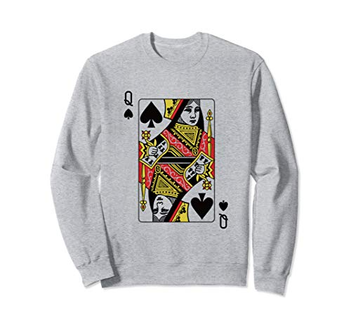 Queen Of Spades Playing Card Poker Sweatshirt