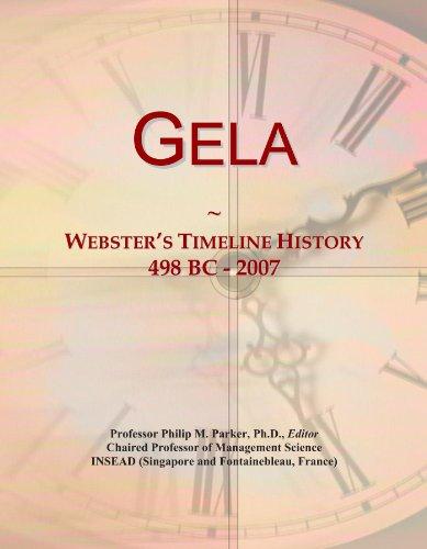 Gela: Webster's Timeline History, 498 BC - 2007