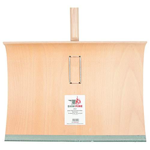 SHW-FIRE 59021 Schneeschaufel Schneeschieber Holz Sperrholz 50 cm breit Professional mit Aluminiumkante Stiel 150 cm lang - 4