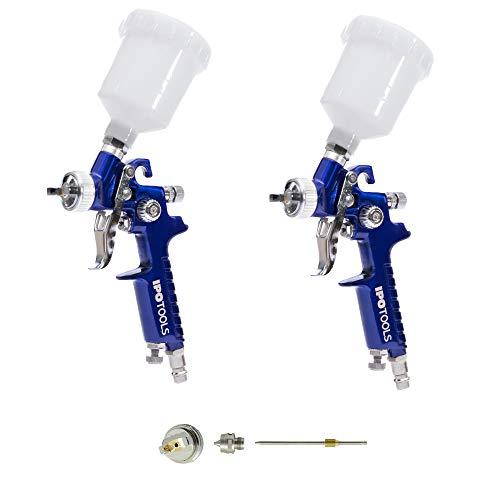 2 Mini pistola pulverizadora de pintura y pistolas HVLP 0,5 mm & 0,8 mm Boquilla + 1,0 mm Set de boquillas
