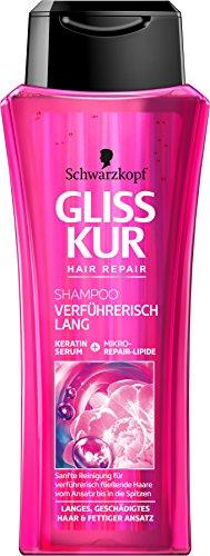 Schwarzkopf Gliss Kur Shampoo, Verführerisch lang, 3er Pack (3 x 250 ml)