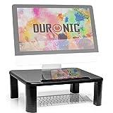 Duronic DM055 Réhausseur d'écran/Support pour écran d'Ordinateur/Ordinateur Portable/écran TV avec Hauteur Ajustable de 4 à 15 cm – Surface de 40 x 28 cm