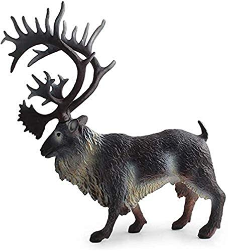 OCEAWNIA Garden Statues Ornaments Animal Deer Crafts Model Statue Garden Ornaments Reindeer Figurines Decoration Accessories Children's Animal Cognition Toys Gifts