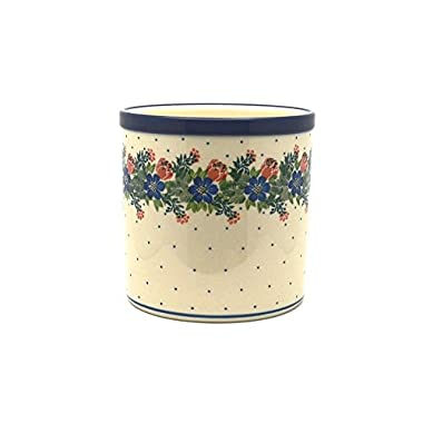 Polish Pottery Utensil Holder - Garden Party