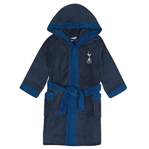 Tottenham Hotspur FC Official Gift Boys Fleece Dressing Gown Robe Navy 13-14 Yrs
