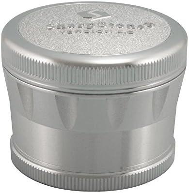 "SharpStone 2.2/"" Inch Version 2.0 4pc Clear Top Herb Medium Silver Grinder Extras"