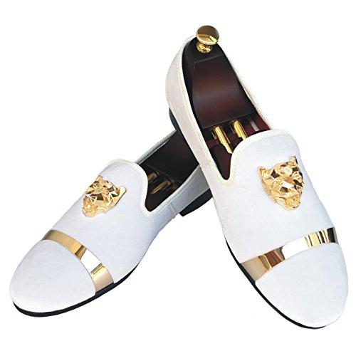 Gold Buckle Wedding Dress Shoes Slip