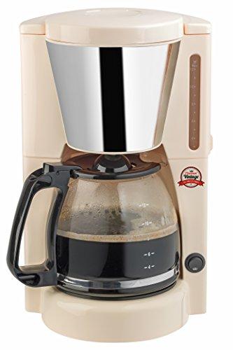 Bestron ACM100RE Retro Design Kaffeemaschine Vintage Creme 12 Tassen