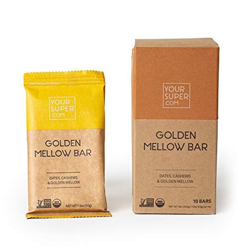 Your Super Golden Mellow Riegel - Bio-zertifizierter Snack-Riegel - Ayurvedischer Snack gegen Stress - Gesunder und ausgewogener Snack - Ohne künstliche Aromen, Süßungsmittel und Zusatzstoffe
