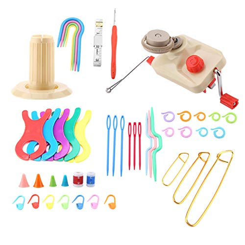 Bobinadora de lana para tejer, se puede sujetar a la mesa de la mesa de té Bobinadora de hilo de lana El dispositivo de bobinado simple es fácil de usar para el hogar y el estudio