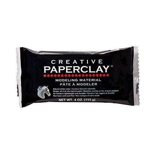 Creative Paperclay, Material para Modelar, Blanco, 113 g