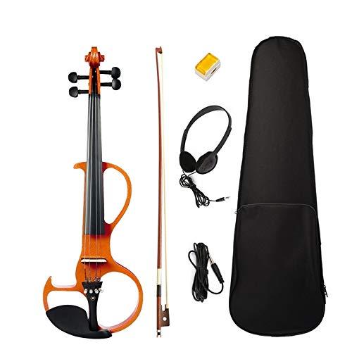 YUXIwang Violine Elektrische Violine 4/4 volle größe Violine mit case Bogen kopfhörer robosin Set stille Violine Instrumente
