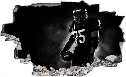 DesFoli American Football Spieler Wandtattoo Wandsticker Wandaufkleber C2084 Größe 120 cm x 180 cm