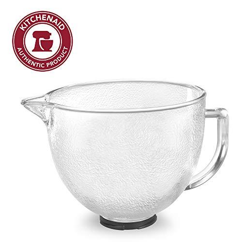 KitchenAid Tilt-Head Hammered Glass Bowl with Lid, 5-Quart