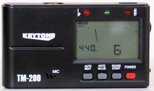 Stimmgerät Metronom Tuner für Gitarre Bass Schlagzeug chromatisch Kopfhörer-Anschluss