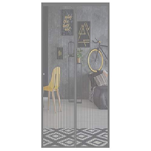 Aibingbao Cortina Mosquitera para Puertas 80x190cm Mantiene Insectos Pasar El Aire Cortina Protección para Cortina de Sala de Estar la Puerta, Gris