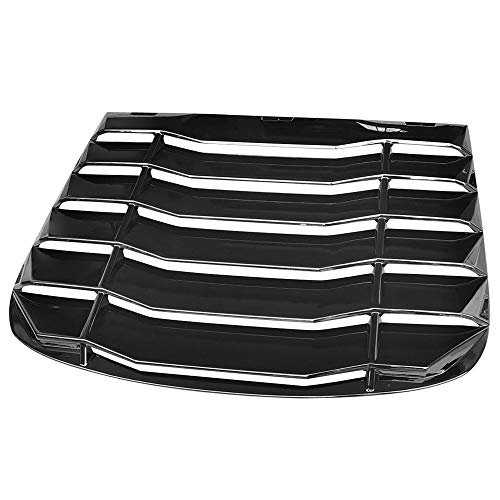 IKON MOTORSPORTS, Rear Window Louver Compatible With 2003-2007 Infiniti G35 Coupe, Gloss Black Sun Shade Cover Vent, 2004 2005 2006
