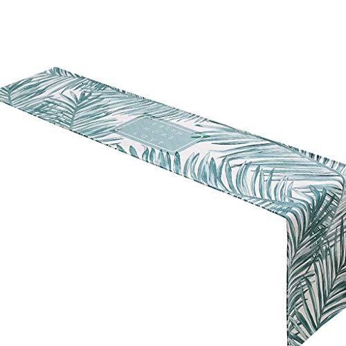 Mantel de tela de cuadros nórdicos con diseño de cuadros escoceses para tv o café, toalla para cama, diseño de rayas europeas de 30 x 160 cm MXJ61 (diseño: C, tamaño: 30 x 240 cm)