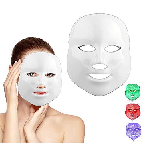 Weijin 3 kleuren LED gouden masker voor lichtbehandeling, gezichtsverzorging, huidverzorging, fotomas voor de behandeling van acne, bleekrimpels