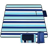 Manta Picnic, Estera A Prueba De Húmedas Plegables Al Aire Libre con Respaldo Impermeable, Alfombra De Gran Tamaño Espesada Portátil, para Acampar, 210 × 200 Cm,Azul