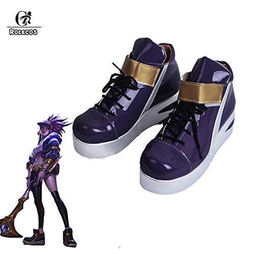 Rolecos Kda Akali Cosplay zapatos Lol Akali Cosplay mujeres zapatos juego Lol K/Da Akali Cos 43 tamaño europeo