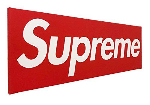 PICSonPAPER Leinwandbild Supreme, 110 cm x 40 cm, Dekoration, Kunstdruck, Wandbild, Geschenk, Leinwand, Poster (110 cm x 40 cm)