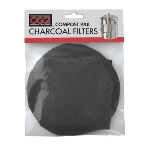 Review Of Oggi Replacement Charcoal Filters for Compost Pails # 7320, 5427, 5448 and 7700, Set of 2