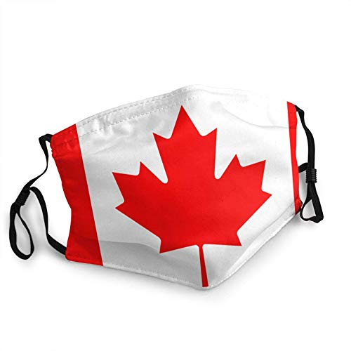 Juanjuan Canada Flag Adult Mouth Covers,Adjustable Anti Dust Half Face Mouth Cover For Women Men Outdoor/Sports/Motor/Cycling (7.9 X 5.9 Inch)