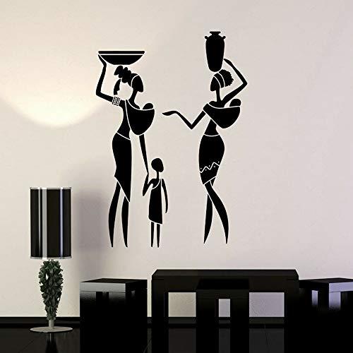 Tianpengyuanshuai muursticker van vinyl voor de Afrikaanse familie, voor dames, kinderen, decoratie van het huis in etno-stijl, afneembaar