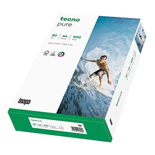 TECNO PURE, papier reprographique, 100% recyclé, extra blanc, 80g, A4, FSC, ramette de 500 feuilles 2100011512_R