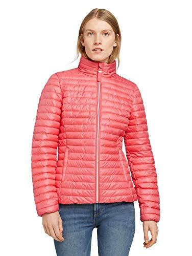 Tom Tailor 1024131 Lightweight Chaqueta Acolchada, 12230 Smooth Papaya Red-Juego de Mesa (2 Unidades), Color Rojo, L para Mujer