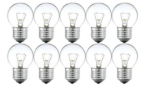 10 x Philips P45 25W E27 Leuchtmittel Glühlampe Tropfenform 205 Lumen 1000 h klar 30600017 dimmbar