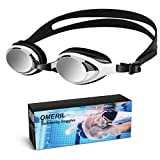 OMERIL Swim Goggles, UV Protection Swimming Goggles, No Leaking Anti Fog Swimming Goggles