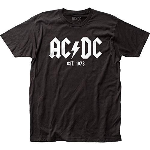 AC/DC - Camiseta - Hombre de color Negro de talla Medium - AC/DC - Est. 1973 Uomo (Camiseta) In Nero, Size: Medium, Color: Nero