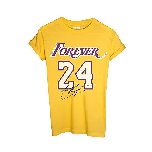 MUSH T Shirt Gialla - Forever 24 Kobe Bryant - Los Angeles Lakers, 12-14 Anni