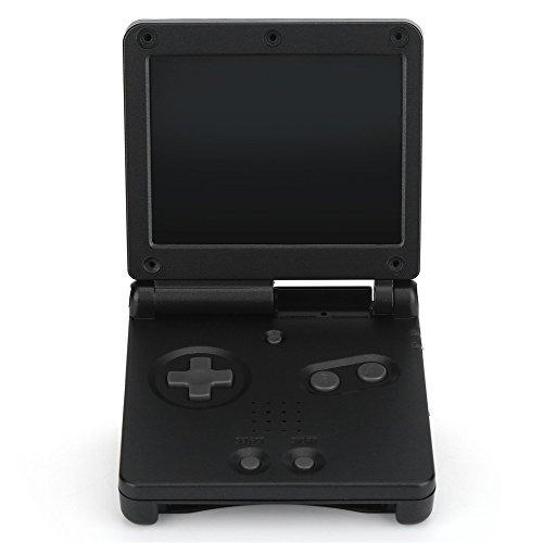 Zerone Shell Case für Gameboy SP, Ersatz Gehäuse Shell Case Cover Reparatur Kit für Nintendo Game Boy Advance GBA SP(Schwarz)