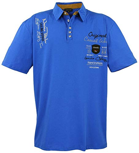 Lavecchia Herren Business Freizeit Poloshirt LV-610 Royalblau Gr. 5XL